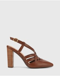 Wittner - Hao Leather Pointed Toe Block Heels