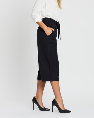 KAJA Clothing Hailey Culottes - Pants (Black & Blue)