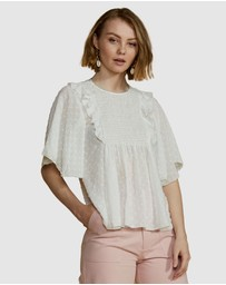 ids - Heather Bib Front Blouse