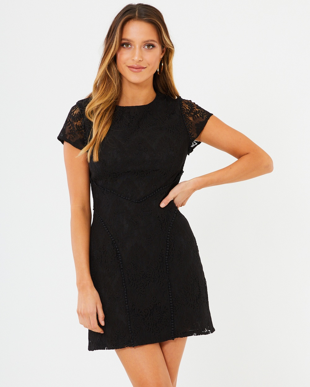 Tussah Black Lace Arden Lace Dress