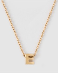 Orelia London - Gold Plated E Initial Necklace