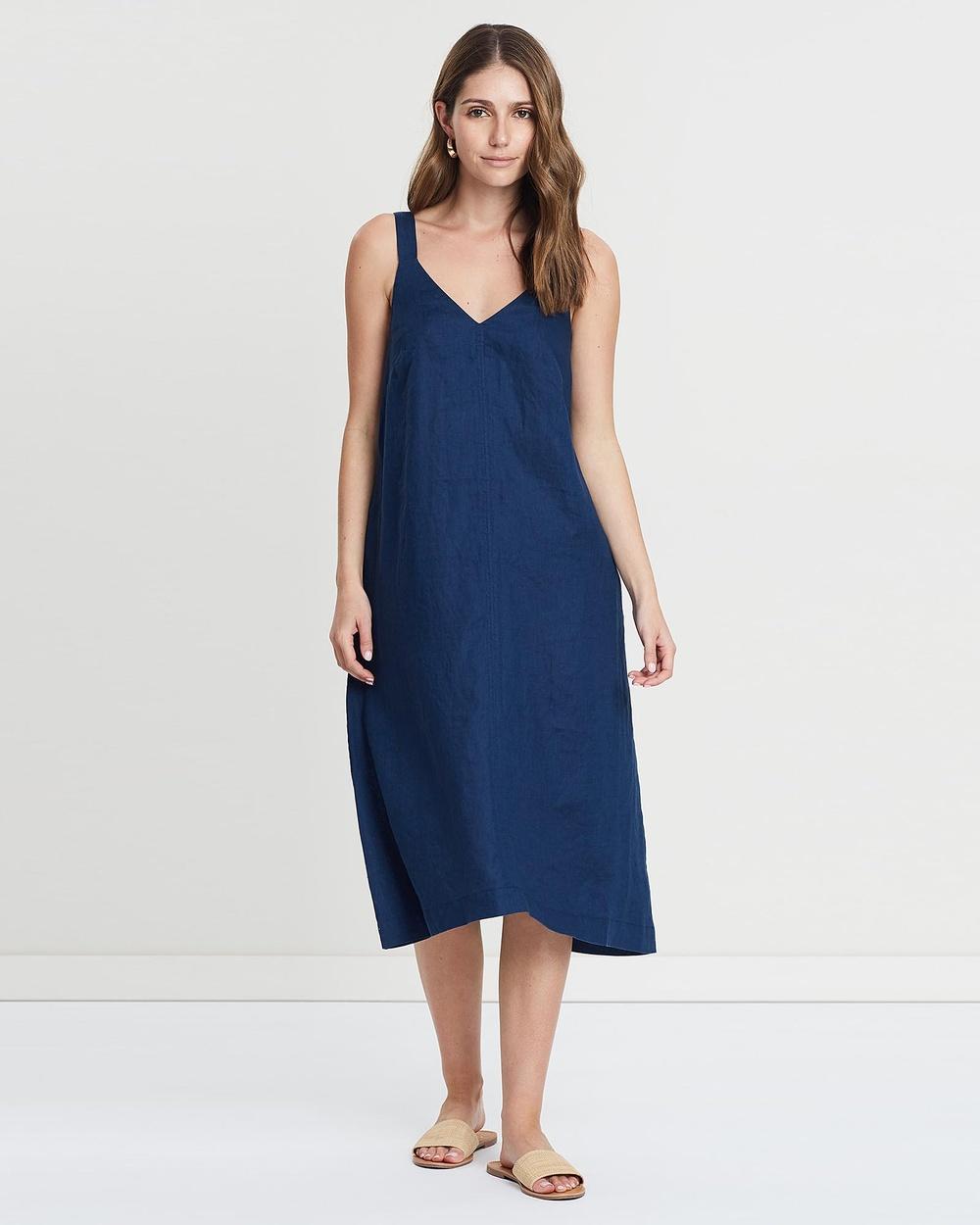 Jag blue Trapeze Midi Dress