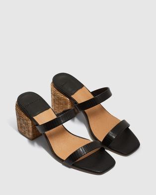 cherrichella - Whisper Mules Heels (Black)