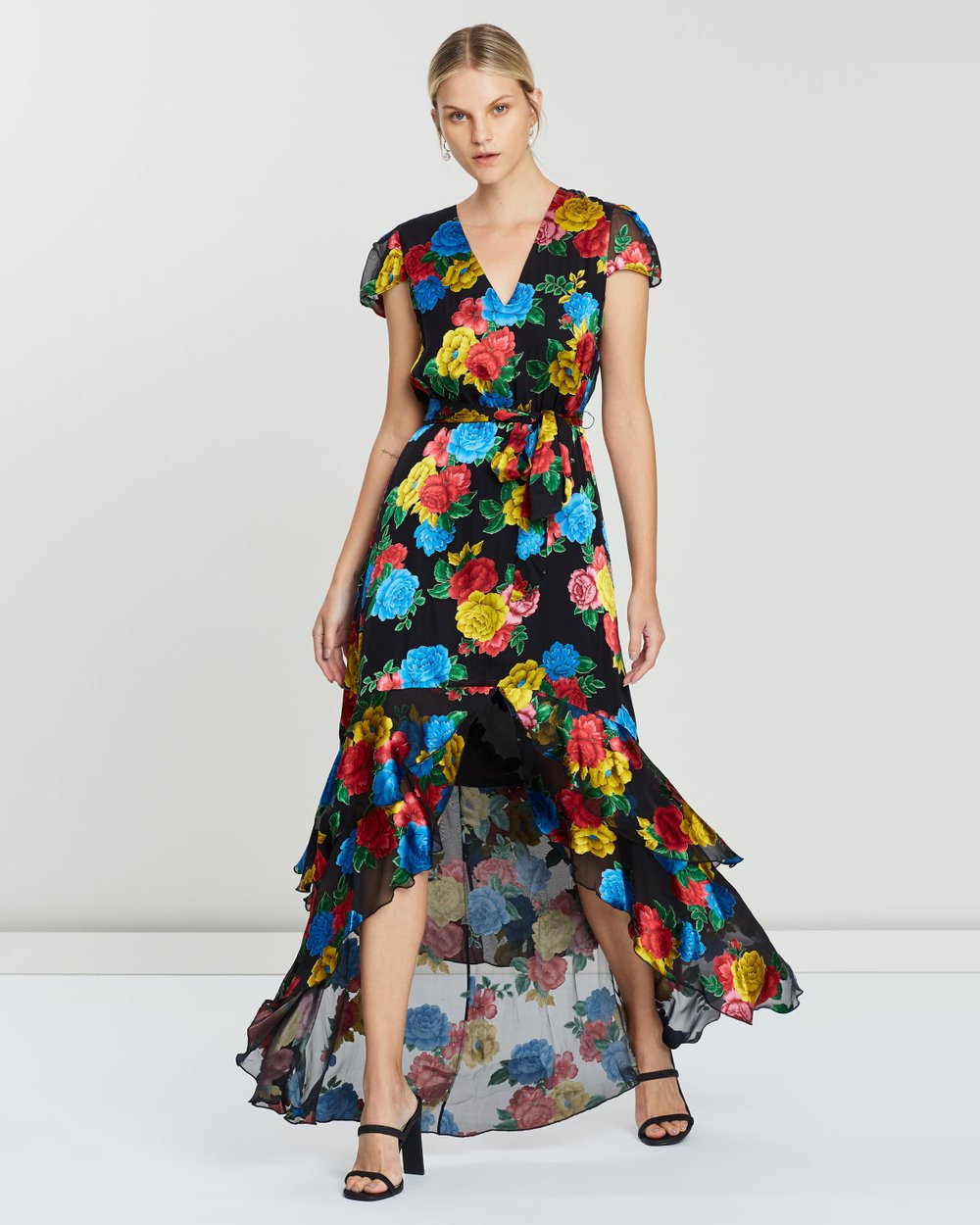1e4cc978ad36 Erika Ruffle Midi Dress with Belt by Alice & Olivia Online | THE ICONIC |  Australia