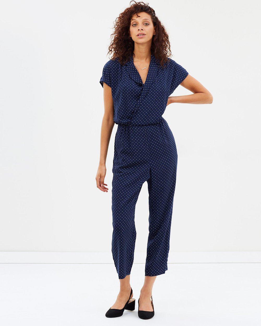 16dffdbe0779 Pindot Jumpsuit With Lapel by J.Crew Online
