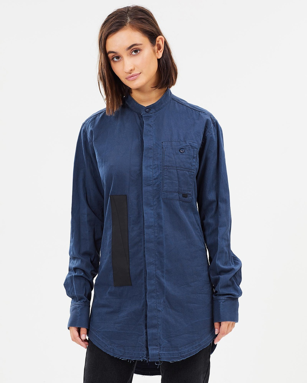 Surrounded By Ghosts The Bornite Shirt Dress Dresses Navy The Bornite Shirt Dress