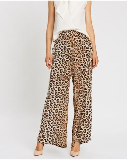Lindsay Nicholas New York Palazzo Pants Leopard