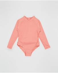 Feather Drum - Long Sleeve One-Piece - Kids