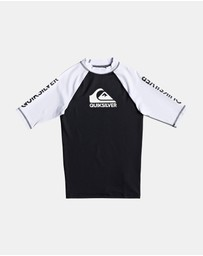 Quiksilver - Boys 8-16 On Tour Short Sleeve UPF 50 Rash Vest