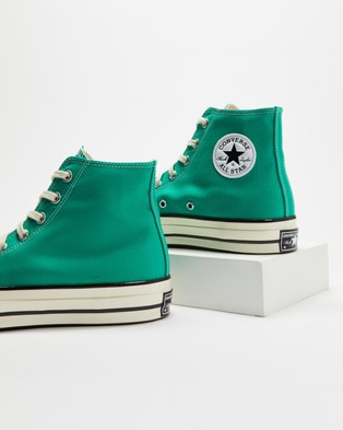 Converse Chuck Taylor All Star 70 Recycled Canvas High Tops   Unisex - High Top Sneakers (Court Green)