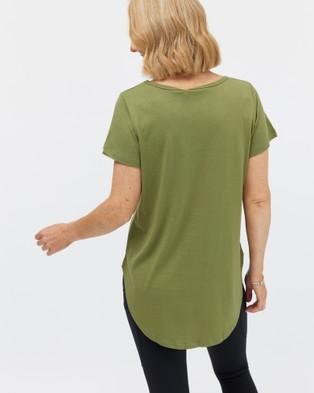 Avila Logo T Shirt - Short Sleeve T-Shirts (Green)