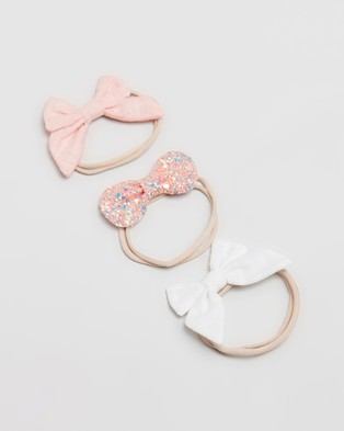 ArchNOllie Sailor Bow Elastic 3 Pack   Kids - Hair Accessories (Pink)
