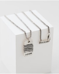 Icon Brand - Wrapped Up Disk Necklace