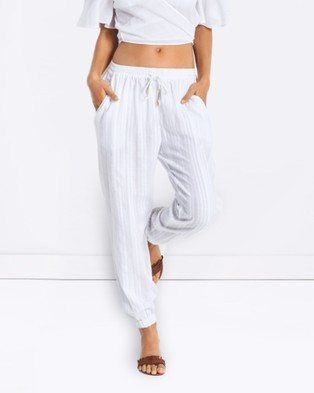 Seafolly – Washed Dobby Beach Pant – Swimwear White