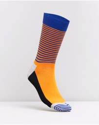 Happy Socks - Half Stripe Socks
