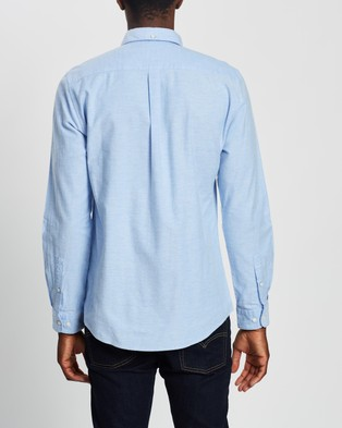 Barbour Barbour Oxford 8 Tailored Shirt - Casual shirts (Sky)