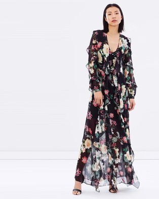Nicholas – Camille Floral Long Ruffle Maxi Dress – Bridesmaid Dresses (Camille Floral)