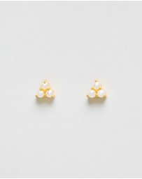 Ocean Mantra - Belle Mare Triangle Stud Earrings