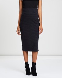 Angel Maternity - Maternity Midi Straight Cut Skirt