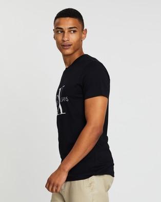 Calvin Klein Jeans Core Monogram Box Logo Tee - T-Shirts & Singlets (Black)