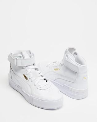 Puma Cali Sport Top Warm Up   Women's - Lifestyle Sneakers (Puma White)