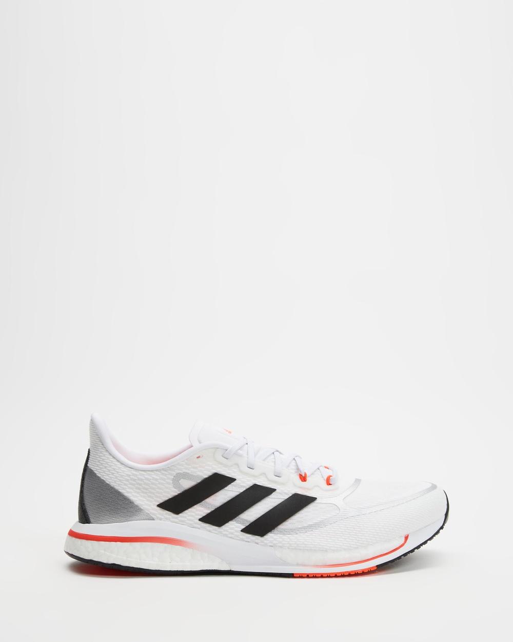 adidas Performance Supernova+ Shoes Men's Flutter White, Core Black & Solar Red