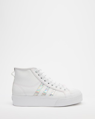 adidas Originals Nizza Platform Mid   Women's - High Top Sneakers (White)