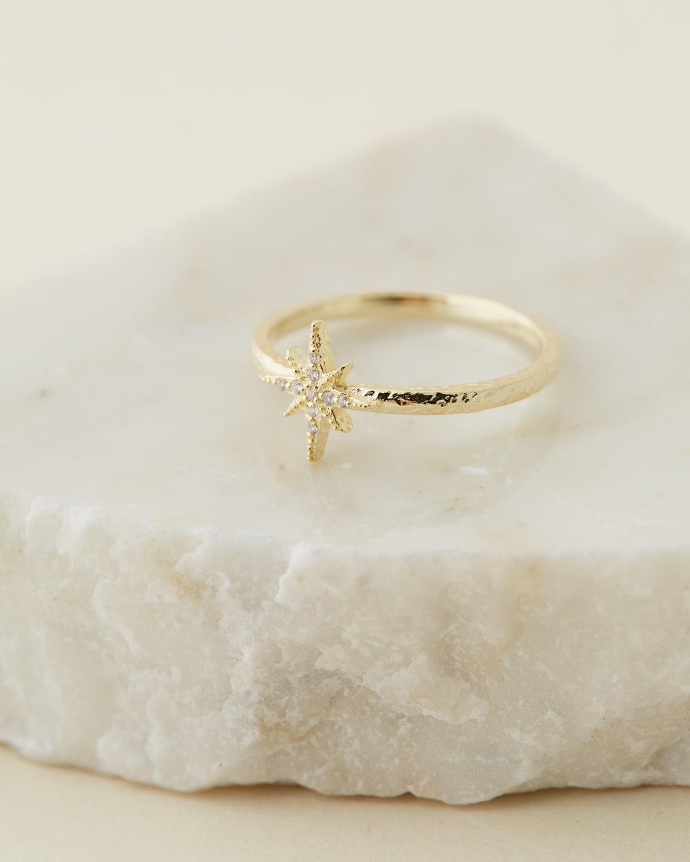 By Charlotte Starlight Ring Jewellery Gold Plated Sterling Silver
