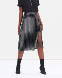 Atmos&Here - ICONIC EXCLUSIVE - Sienna Stripe Skirt