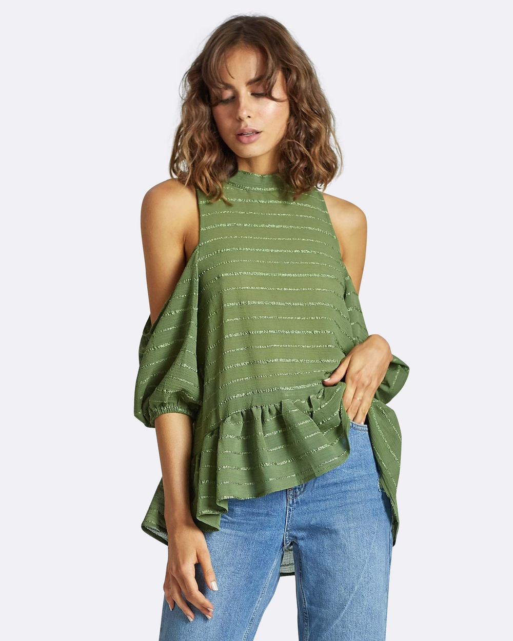 Three of Something Friends and Lovers Top Tops MOSS KHAKI Friends and Lovers Top
