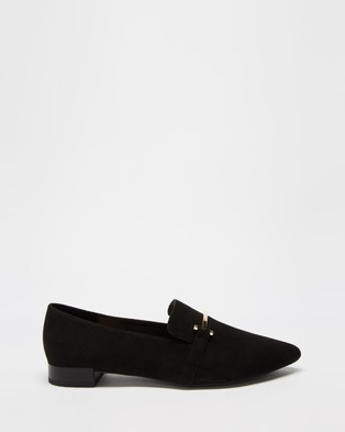 Dazie - Micah Loafers Flats (Black Microsuede)