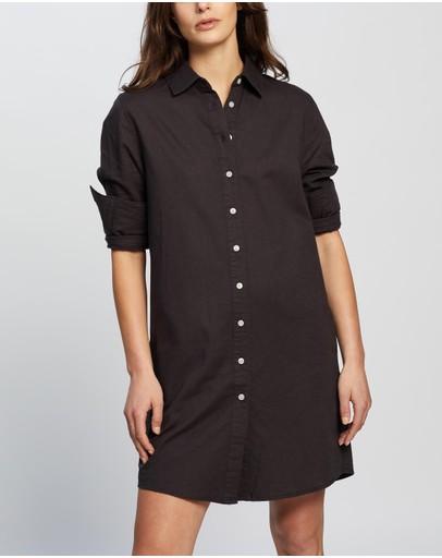Nude Lucy Poppy Shirt Dress Coal