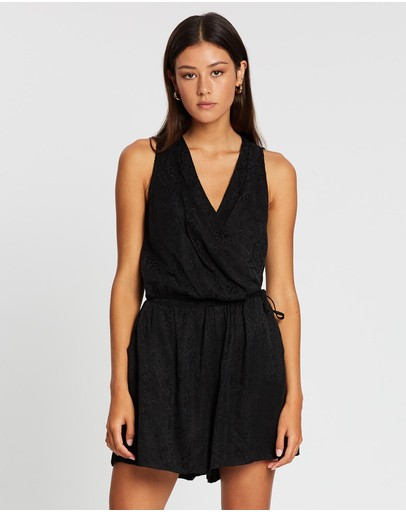 Grace Willow Lyric Playsuit Black