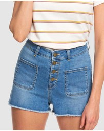 Roxy - Womens The Sun Shines Denim Shorts