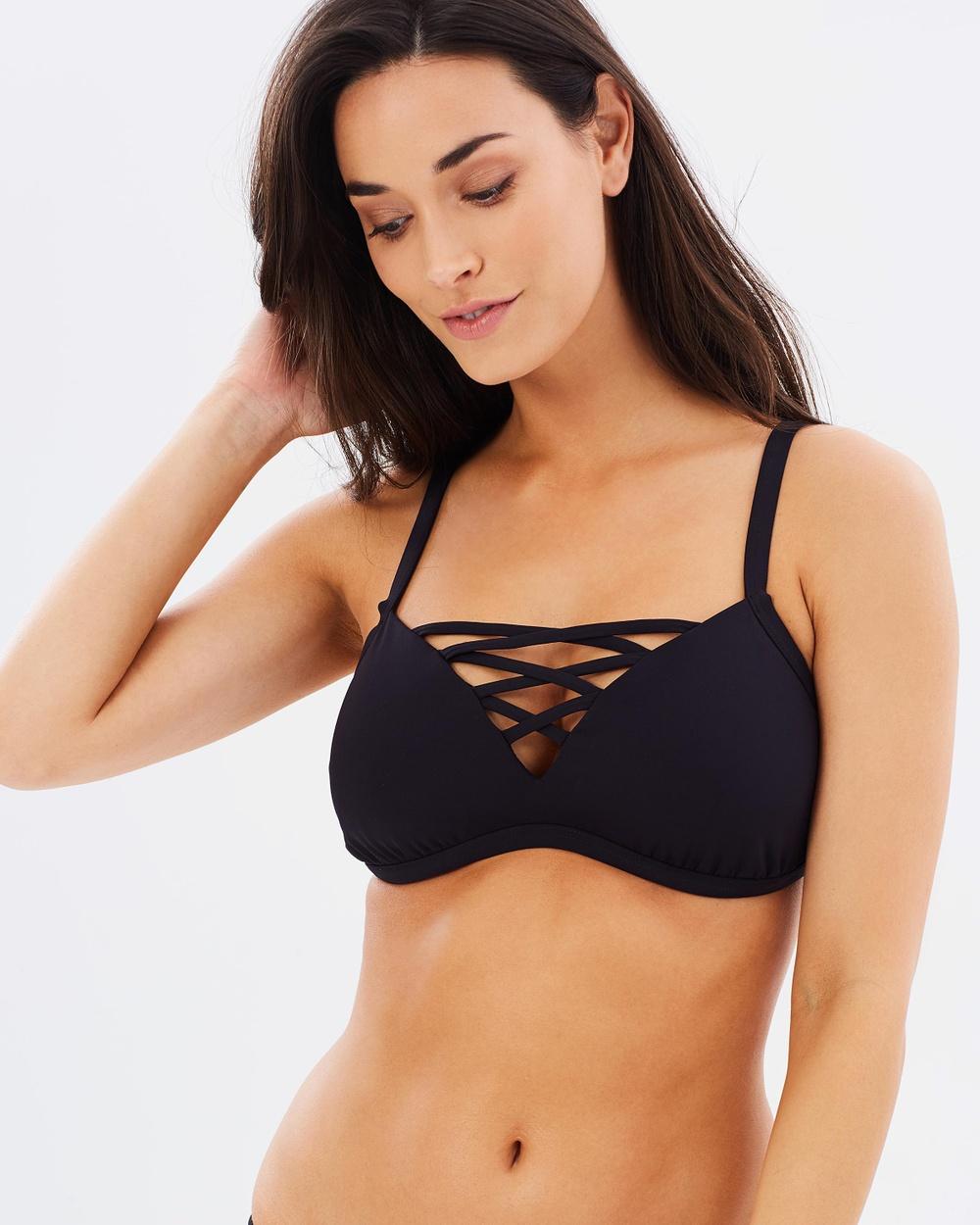 Seafolly Active DD Bralette Bikini Tops Black Active DD Bralette