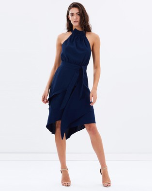 C/MEO COLLECTIVE – Out Of Line Dress – Dresses (Navy)