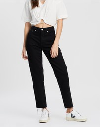 Assembly Label - High-Waisted Rigid Jeans