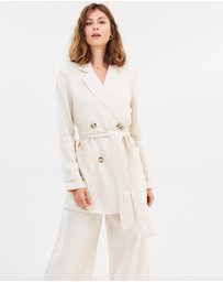 FRIEND of AUDREY - Fleur Linen Jacket