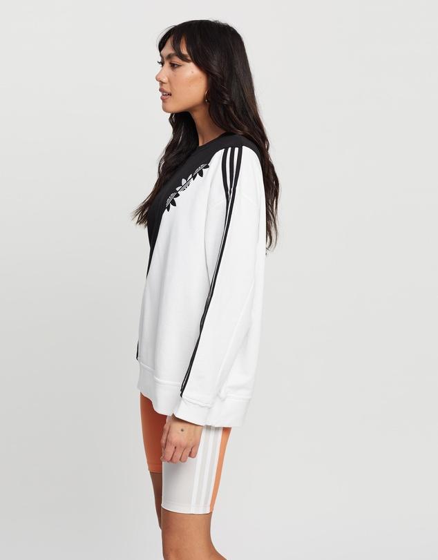 Women Adicolor Sliced Trefoil Sweatshirt