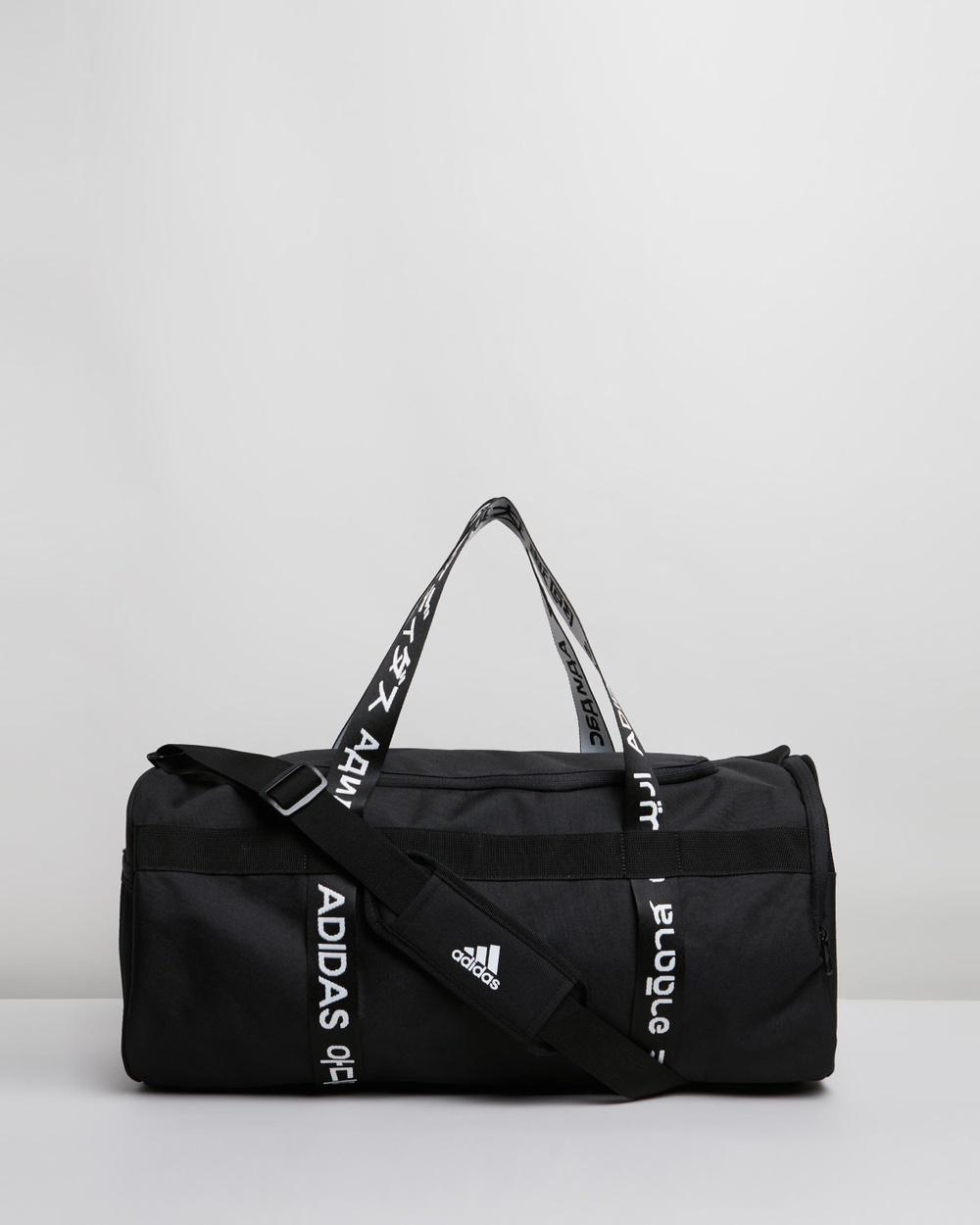 adidas Performance 4ATHLTS Medium Duffle Bag Running Black, Black & White