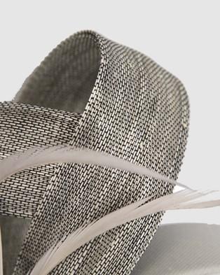 Fillies Collection Abaca Loops Racing Fascinator - Fascinators (Silver)