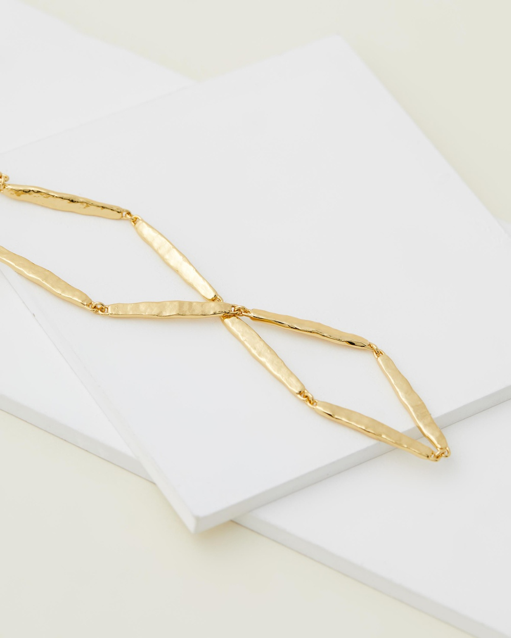 Brie Leon Frida Choker Necklace Jewellery Brass Base, Gold Plated