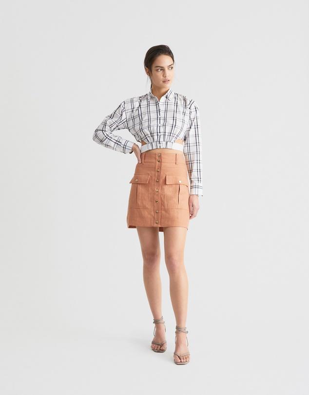 Women Utility Mini Skirt