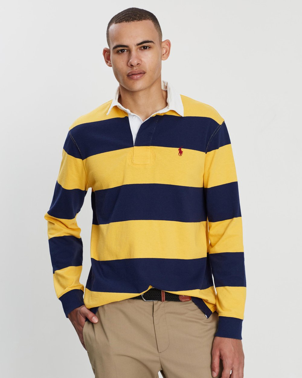 06059cc8164 LS Ultra-Knit Cotton Jersey Rugby Shirt by Polo Ralph Lauren Online | THE  ICONIC | Australia
