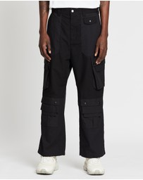White Mountaineering - Contrasted Wide Cargo Pants