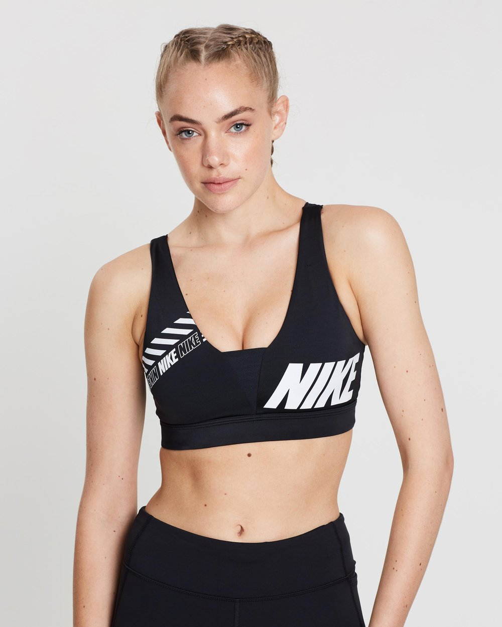 f571f3525402f Distort Indy Plunge Sports Bra by Nike Online