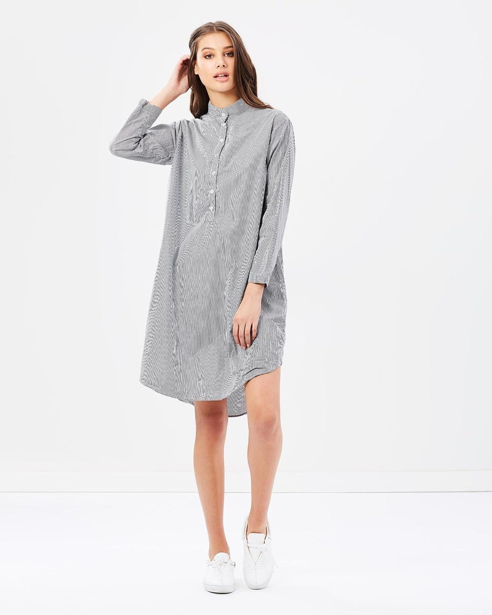 Primness Pinstripe Dress Dresses Black Fine Stripe Pinstripe Dress