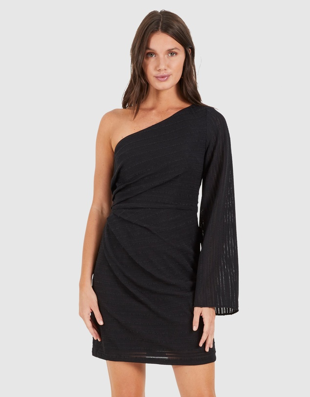 Cooper St - Hypnotised One-Shoulder Dress