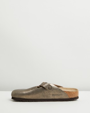 Birkenstock Boston BS Narrow   Women's - Clogs (Metallic Antique Gold)