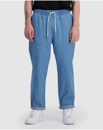 Huffer - Chambray Relax Pants